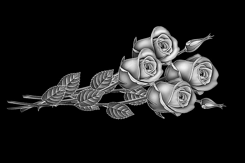 Картинки для гравировки на памятниках розы